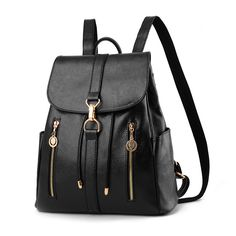 Women s Backpacks  4. PU leather backpack with polyester lining for women.  Backpack Travel 0ba357f7ebe45
