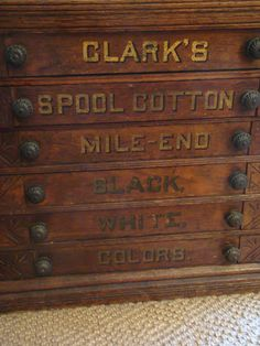 Holder cabinet for nameplates vintage file