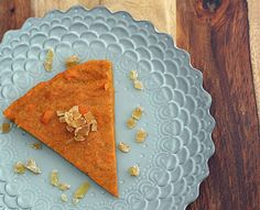 Crustless Cardamom Sweet Potato Pie // I'm on WW and I love this because it's only 2 PointsPlus a slice.