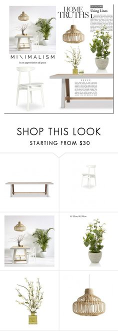 """""""Minimal Dining Room"""" by cruzeirodotejo ❤ liked on Polyvore featuring interior, interiors, interior design, home, home decor, interior decorating, Himalayan Trading Post and dining room"""