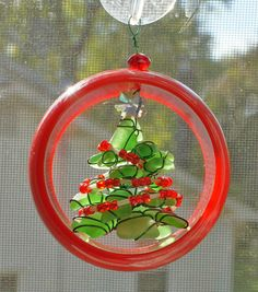 Sea Glass Christmas Ornament or Suncatcher in a 3D by oceansbounty, $17.00