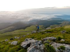 At the top of the Long Tom Pass with the view towards the Kruger National Park on the PANORAMA TO KRUGER TOUR. South Africa