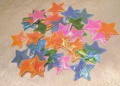 Streudeko,Sterne,verschiedene Farben, irisierend,ca. 3cm, ca. 40 Stück