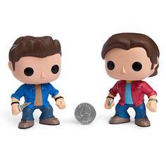 """ThinkGeek :: POP Television: Supernatural.   Sam: When I told Dad I was scared of the thing in my closet, he gave me a .45. Dean: Well, what was he supposed to do? Sam: I was nine years old. He was supposed to say, """"Don't be afraid of the dark."""" Dean: Don't be afraid of the dark? What, are you kidding me? Of course you should be afraid of the dark! You know what's out there!"""