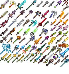 Some terraria sprites for weapons! I don't take credit