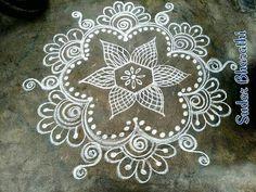 Rangoli Designs Latest, Rangoli Designs Flower, Rangoli Border Designs, Rangoli Ideas, Rangoli Designs Diwali, Rangoli Designs With Dots, Kolam Rangoli, Flower Rangoli, Beautiful Rangoli Designs