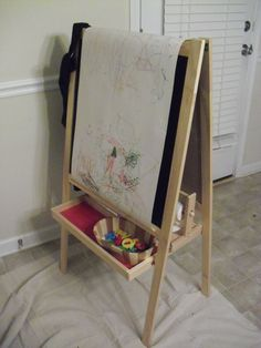 The Ikea Mala Chalkboard Easel Painted Great For A Kids Room