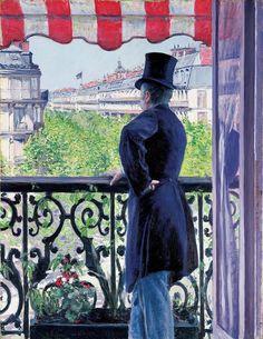 Gustave Caillebotte - L'Homme au balcon, boulevard Haussmann