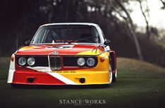 Alexander Calder   BMW E9 CSL    art car   custom   red   yellow