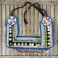 Vintage Tribal Beaded Belt with Metal Charms // Gypsy by Kurafuchi, €50.00