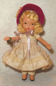 Antique Bisque Storybook Doll by NANCY ANN He Loves Me Not Original TAG & BOX #BISQUEDOLL
