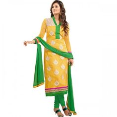 Shop Online Sayali Bhagat Cotton Machine Work Yellow Unstitched Churidar Suit - 003 @ 1198.0000 at Indiarush. Best Discount ✓ Cash on Delivery ✓ Free Shipping✦ ✓15 Days Return ✓ All India Shipping.
