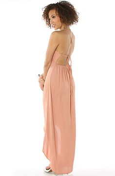 The Tell Me I'm Sweet Maxi Dress in Salmon by *MKL Collective