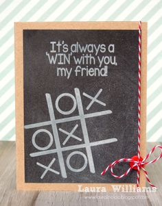 card by laura williams featuring tictactoe2play clear stamps from The Stamps of Life