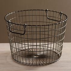 This Uniquely Styled Storage Piece Features The Vintage Look Of Antique Wire Ware.  Use