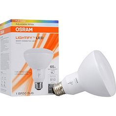 SYLVANIA LIGHTIFY by Osram - Smart Home Connected LED Light Bulb 65W BR30 - Warm White to Daylight 1900K - 6500K - RGBW Color Changing, Works with Alexa (requires hub)