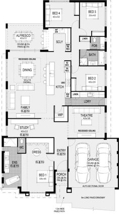 Ohio Platinum floorplan ❤️❤️❤️ This scullery design 4 Bedroom House Plans, Family House Plans, Best House Plans, Dream House Plans, Modern House Plans, House Floor Plans, Modern Floor Plans, Home Design Floor Plans, House Blueprints