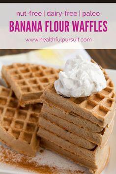 Banana Flour Waffles | Healthful Pursuit #paleo #waffles #breakfast #dairyfree #nutfree