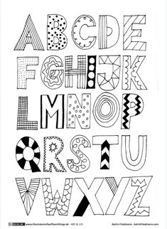 Ideas for Handlettering Letters . Ideas for handlettering letters alphabet letters font Alphabet Doodle, Hand Lettering Alphabet, Doodle Lettering, Creative Lettering, Lettering Styles, Creative Art, Doodle Art Letters, Doodle Fonts, Graffiti Alphabet