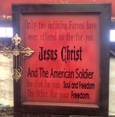 Personalized Plaque to Honor American Soldier ~ signsfordesign.com