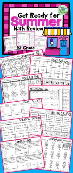 19 common core aligned end of year/summer 1st grade math review $
