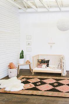 Baby nursery with rug from Loom + Kiln