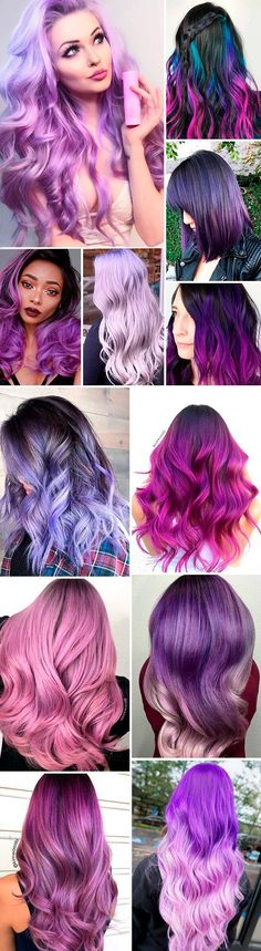 Purple hair color is the star of the bright-colored hair trend. The variety of purple shades will not leave you dissatisfied. Welcome to the purple side!