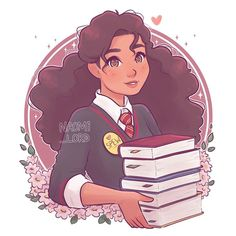💕📚✨ Thought I'd start up a series of HP ladies! Who should I draw next? (I've already drawn Luna! Harry Potter Cartoon, Harry Potter Girl, Harry Potter Drawings, Harry Potter Hermione, Harry Potter Pictures, Harry Potter Memes, Kawaii Drawings, Cute Drawings, Hermione Granger Drawing