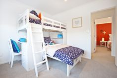Multi-purpose child's room. With bunk bed and desk built-in. From one of our Tauranga Showhomes
