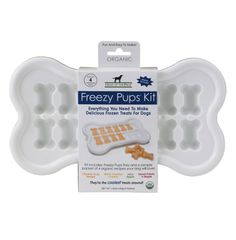 The tray makes the treats look cute, but they taste so good that I suggest using an regular ice tray.  Your dog will never notice the difference.