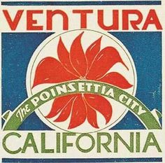Vintage style Ventura CA California The Poinsettia City retro travel decal sticker state map Vintage California, California Beach, California Homes, Ventura County California, Ventura Homes, Ventura Beach, Santa Clarita Valley, Peel And Stick Vinyl, State Map