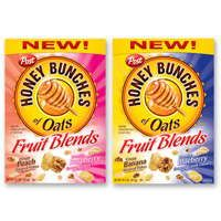 Save $1.10 off ONE box of Post Honey Bunches of Oats New Fruit Blends!  SWEET!