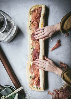 Appetizer Recipes, Appetizers, Bread And Pastries, Snacks, Bread Baking, I Love Food, Food Inspiration, Food To Make, Prosciutto