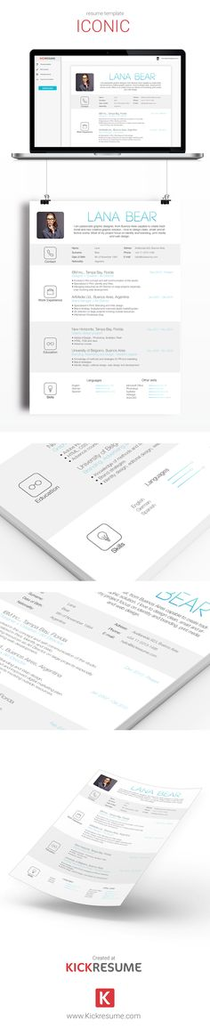 Resume Alina by Estartshop on @creativemarket Resume Templates - awesome resumes templates
