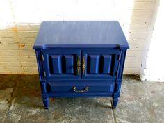 Inside Blue Side Table