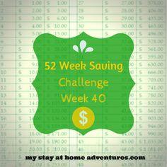 52 Week Saving Challenge Week 40  12 Weeks to go!!  #financialplanning #Frugal #debtfree
