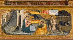 Bicci di Lorenzo - Polittico di Cetica: (particolare) predella: Natività - 1430 circa - Pieve di Cetica in Casentino dedicata a San Michele Arcangelo.