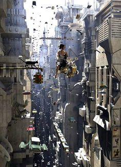 Future city life, 'cept more dystopian like Cyberpunk City, Arte Cyberpunk, Ville Cyberpunk, Futuristic City, Futuristic Architecture, Cyberpunk Anime, Futuristic Technology, Fantasy Kunst, Fantasy City