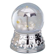 Reed & Barton Silver Plated Something Duckie Rain Globe