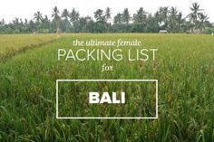 Bali Packing List for Females