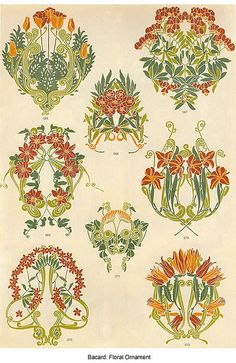 Bacard : diferentes motivos florales