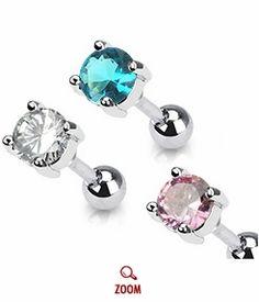 Tragus studs Helix Cartilage Earrings, Barbell Earrings, Ear Piercings Helix, Tragus Stud, Piercing Tattoo, Unique Ear Piercings, Diamond Earrings, Stud Earrings, Body Jewelry