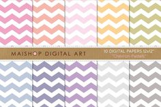 Digital Papers - Chevron Pastels by Maishop on @creativemarket