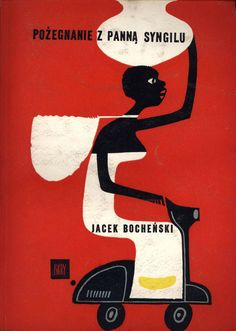 "Cover illustration for ""Pożegnanie z panną Syngilu"" (Farewell to Miss Syngilu) (1960) by Polish artist and illustrator Janusz Stanny (1932-2014). via konsumerism run amok"