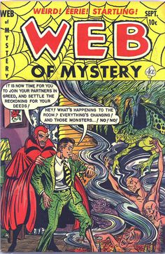 Comic Book Cover For Web of Mystery #13