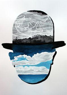 Ceci n'est pas une Magritte Art Print