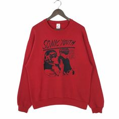 Excited to share this item from my shop: Vintage Sonic Youth Sweatshirt Sonic Youth Goo! Sweatshirt Crewneck Sonic Youth Goo 1990 by DGC Records Sonic Youth Vintage Sweatshirt Crew Neck Sweatshirt, Graphic Sweatshirt, Vintage Band Tees, Nike Pullover, Cute Sweaters, Hippie Style, Youth, Sweatshirts, How To Wear