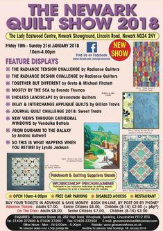 Juberry will be at The Newark Quilt Show from Fri - Sun January. Be sure to visit our stand if you're attending! Lincoln Road, All Craft, Dressmaking, January, Workshop, 21st, Sun, Quilts, News