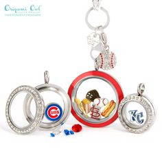 Baseball fan? Origami Owl has it! represent your MLB team with our official baseball team charms and baseball themed charms and dangles. Let's play ball! For the love of the game.
