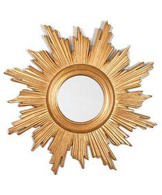 Flame Gold Leaf Mirror
